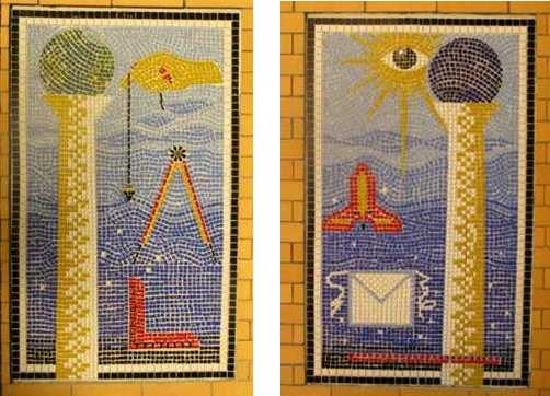 tile pictures Bro Paul Ciccotelli entryway Pythagorean Lodge Marion MA